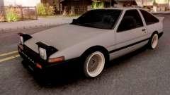 Toyota Trueno AE86 1986 Grey для GTA San Andreas