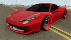 Ferrari 458 Italia HQ для GTA San Andreas
