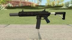Carbine Rifle GTA V V3 (Silenced, Flashlight) для GTA San Andreas