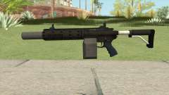 Carbine Rifle GTA V Silenced (Box Clip) для GTA San Andreas