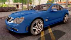 Mercedes-Benz SL65 AMG Blue для GTA San Andreas
