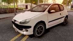 Peugeot 206 White для GTA San Andreas