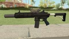 Carbine Rifle V2 Silenced, Tactical, Flashlight для GTA San Andreas