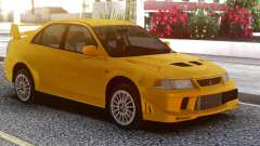 Mitsubishi Lancer Evolution VI Yellow для GTA San Andreas