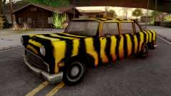 Zebra Cab from GTA VC для GTA San Andreas