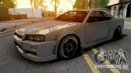 Nissan Skyline R34 Grey для GTA San Andreas