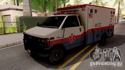 Brute Ambulance GTA 5 White для GTA San Andreas