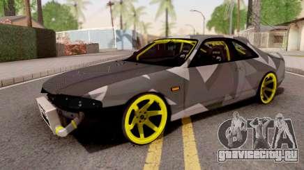Nissan Skyline R33 Drift Camo v3 для GTA San Andreas