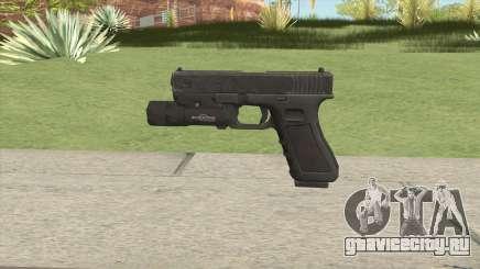 Glock 17 Black With Flashlight для GTA San Andreas