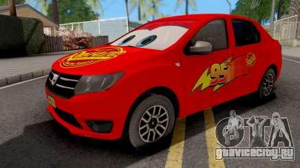 Dacia Logan 2 2016 Lightning Mcqueen v1 для GTA San Andreas