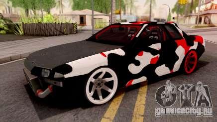 Nissan Skyline R32 Drift Camo v2 для GTA San Andreas