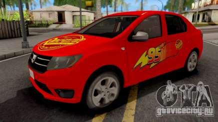 Dacia Logan 2 2016 Lightning Mcqueen v2 для GTA San Andreas