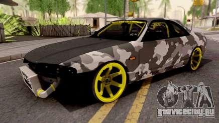 Nissan Skyline R33 Drift Camo v2 для GTA San Andreas
