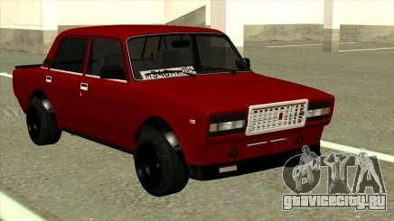 ВАЗ 2107 Красная Боевая Классика для GTA San Andreas