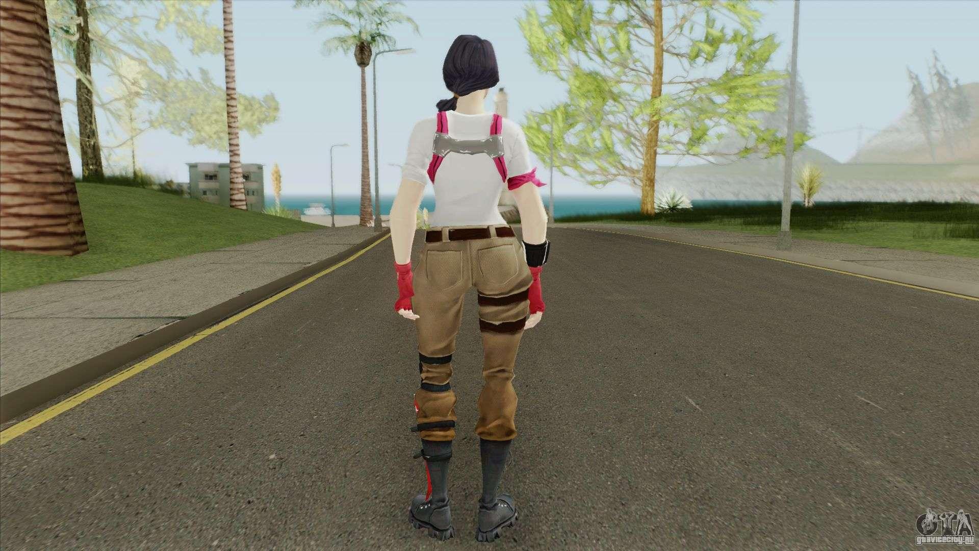 Fortnite Female Nerd (Mia Khalifa) для GTA San Andreas
