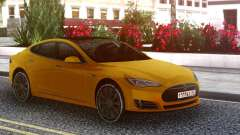 Tesla Model S yellow для GTA San Andreas