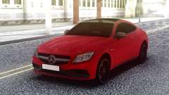 Mercedes-Benz C63S AMG Red для GTA San Andreas