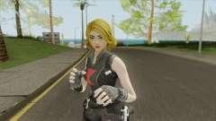 Black Widow Yellow Hair (Fortnite Marvel) для GTA San Andreas