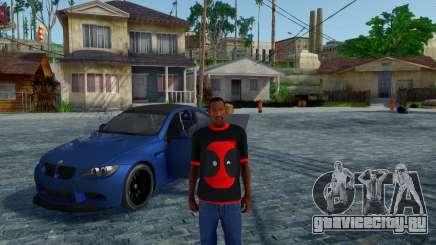 Дэдпул Черная Футболка В1.0 для GTA San Andreas