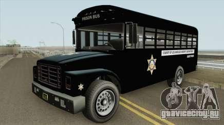 Prision Bus GTA V (Los Angeles County) для GTA San Andreas