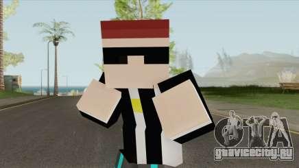 Aztaceas Minecraft Skin для GTA San Andreas