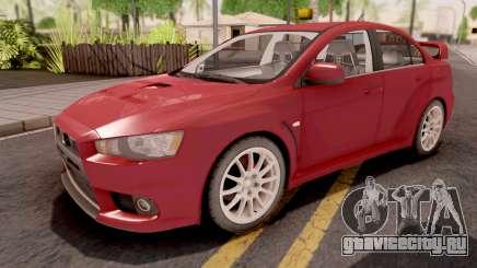Mitsubishi Lancer Evo X Red для GTA San Andreas