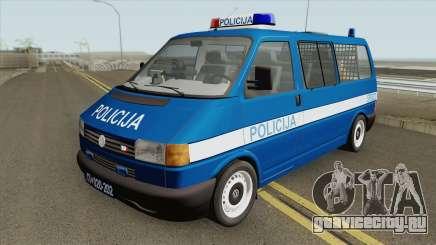 Volkswagen Transporter Mk4 Policija V1 1999 для GTA San Andreas