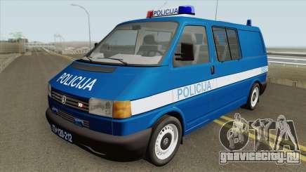 Volkswagen Transporter Mk4 Policija V2 1999 для GTA San Andreas