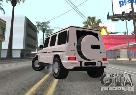 Mercedes-Benz G63 AMG White для GTA San Andreas