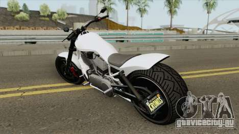 Western Motorcycle Nightblade (Stock) GTA V для GTA San Andreas