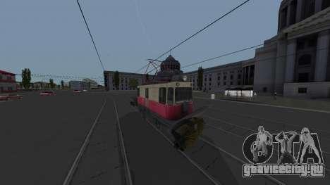 Трамвай ГС-4 КРТТЗ Уборочный для GTA San Andreas