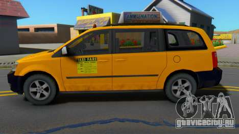 Dodge Grand Caravan 2009 Taxi для GTA San Andreas
