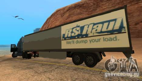 Trailer for Peterbilt 579 Sleeper (SA Style) для GTA San Andreas