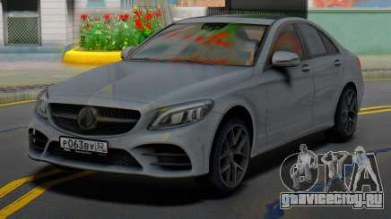 Mercedes-Benz C43 AMG Grey для GTA San Andreas