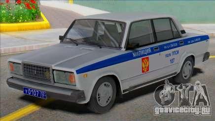 ВАЗ 2107 Милиция ППС 2004 для GTA San Andreas
