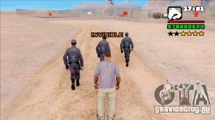 Invisiblity для GTA San Andreas