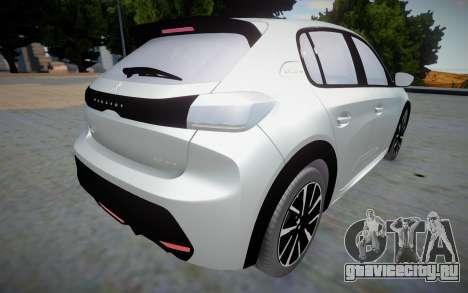 Peugeot 208 2020 (interior lowpoly) для GTA San Andreas