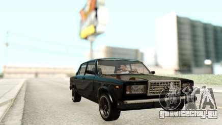 Ваз 2107 Чёрный Цвет для GTA San Andreas
