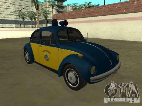 Volkswagen Beetle 94 Polícia Rodoviária Federal для GTA San Andreas