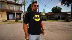 Batman T-Shirt (good textures) для GTA San Andreas