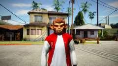 GTA V Space Monkey Mask for Cj для GTA San Andreas
