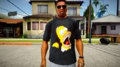 Homer Simpson T-Shirt для GTA San Andreas