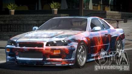 Nissan Skyline R34 BS U-Style PJ4 для GTA 4