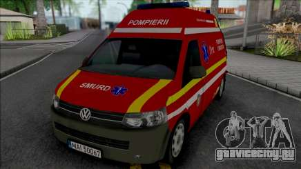 Volkswagen Transporter T5 Fire Brigade Ambulance для GTA San Andreas