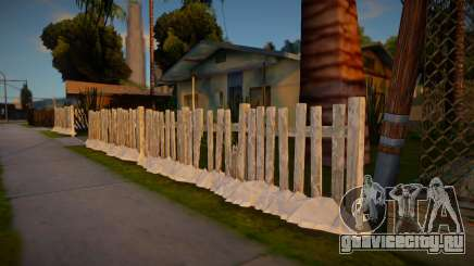Winter Fence Wood 2 для GTA San Andreas