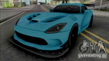 Dodge Viper ACR 2016 (SA Lights) для GTA San Andreas