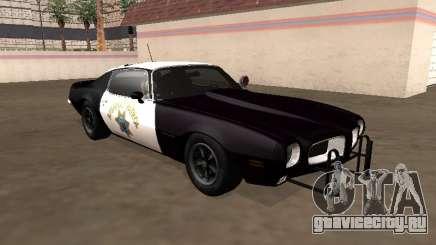 Pontiac Firebird 1970 California Highway Patrol для GTA San Andreas