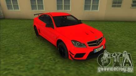 Mercedes-Benz C63 AMG Black Series 2012 для GTA Vice City