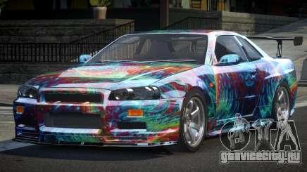 Nissan Skyline R34 BS U-Style PJ1 для GTA 4