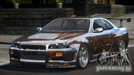 Nissan Skyline R34 BS U-Style PJ7 для GTA 4